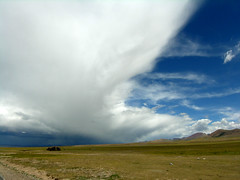 Tibet - The sky (yewco) Tags: china sky cloud lake tibet holy  halfandhalf   namtsolake
