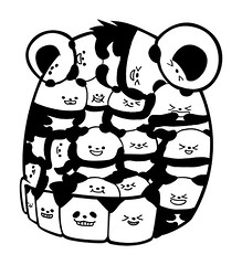 I am crazy about pandas >< (Bubi Au Yeung) Tags: graffiti sticker panda bubi together reach customize fusticker taiwanstreetartist crazyaboutpandas