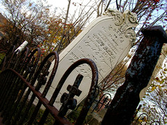 Mary Barron: Font Fanatic! (Cooper Bleck) Tags: cemetery stjohns gravestone belvederecemetery