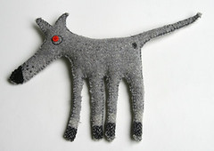 Whippet Softie (gooseflesh) Tags: handmade craft whippet softie recycle