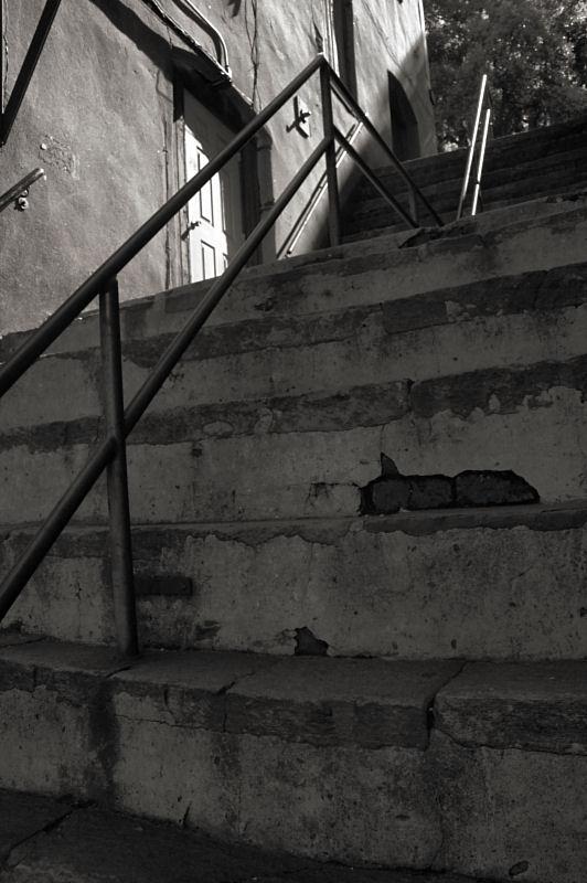 Stairway, River Street, Savannah