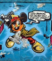 Bates graffiti (duncan) Tags: streetart graffiti mickeymouse warsaw characters bates