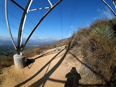 The Trail Boss (Muzzlehatch) Tags: california mountain eric sam hiking echo olympus 2006 fisheye trail cooper lower mapprinclude 8mm onthetrail altadena peleng merril e500 muzzlehatch