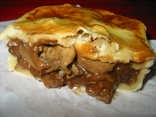 Steak and mushroom pie innards - a photo on Flickriver