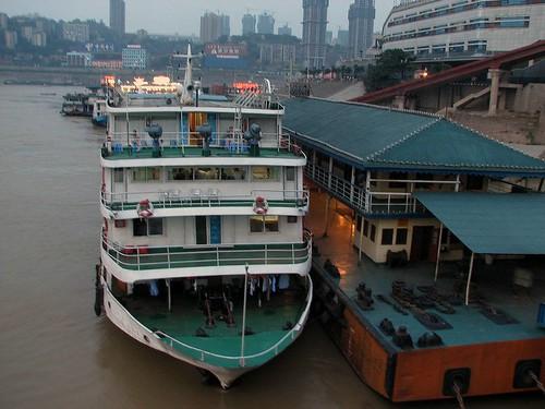 w porcie w Chongqing