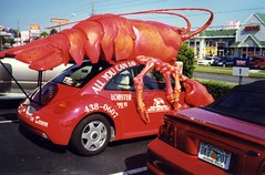 Lobster Mobile (menteblu61) Tags: film car 35mm orlando florida scanner beetle lobster macchina strangeness analogic strana maggiolino nikonn70 stranezza aragosta interestingness199 i500