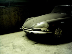 The Shadow of the Devil (Anton Leroy) Tags: shadow dark garage citroen genoa nophotoshop dust oldcar shape catwalk happybirthdaytome devilshorns 221178