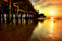 Fire In The Sky (J.H.C.) Tags: ocean sunset sea topv2222 pier santamonica topf200 flickrhits topvaa jhcproductions jhcphotography
