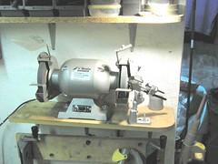 Grinder and drill sharpener.