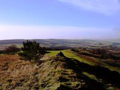 The Golf-course Cairn (billtam) Tags: blue sky canon golf landscape scotland moor selkirk a620 scottishborders