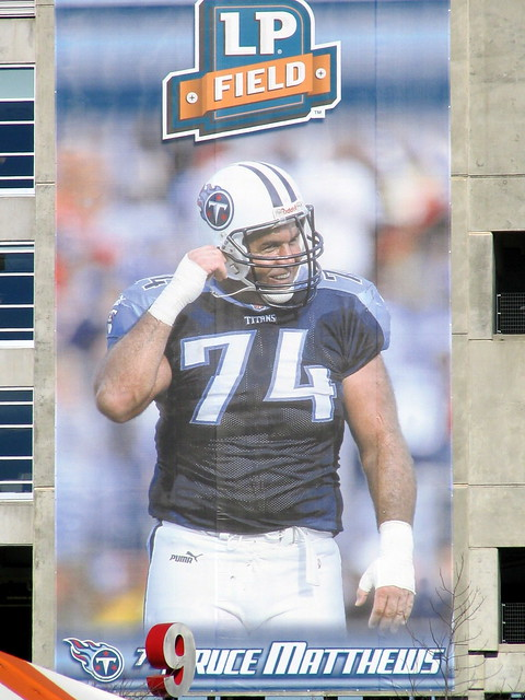 Bruce Matthews sign at LP Field