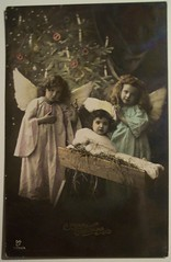 Vintage Christmas Postcard     Angel (riptheskull) Tags: christmas vintage postcard angels vintagechristmaspostcard christmaspostcard