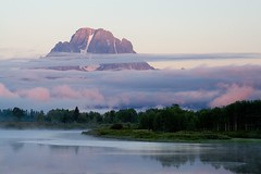 Foggy Morning (Robby Edwards) Tags: vacation mountain water fog sunrise river nationalpark quality interestingness1 snakeriver wyoming mountmoran grandteton grandtetonnationalpark oxbowbend magicdonkey outstandingshots specland fivestarsgallery abigfave outstandingshotsh
