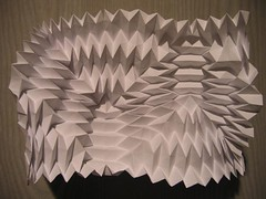 zig-zag concertina back (polyscene) Tags: sculpture art geometric paper paperart origami bass low surface architectural relief polly geometrical fold poly bas sculptural tessellation zigzag corrugation repeat basrelief verity miura ori papersculpture tessallation lowrelief bassrelief pleat paperfold developable polyscene pollyverity developablesurface