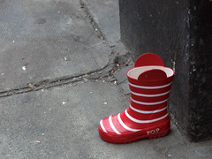 lost stripey red welly (only alice) Tags: street red lost boot stripes pop wellington stripey welly onlyalice