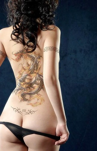 Corneo Body Tattoo Snake Tribal Girl Tattoos Cool
