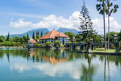 Floating Palace (Richard Hall Photos) Tags: lake bali candidasa floatingpalace reflection volcano