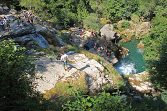 Bathing spot Navacelles Herault France (Lark Ascending) Tags: bathe bathing swim swimming river valley waterfall rocks trees navacelles herault languedoc france