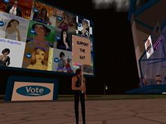 Second Life BB 50 (Gary Hayes) Tags: secondlife bigbrother housemates xmastree challenges endemol muve environmentdesign virtualrealitytv tvformat