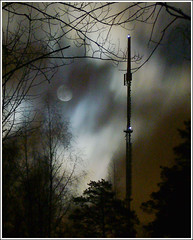 moon mast 2 ([ Petri ]) Tags: sky moon night clouds espoo finland stars nightsky abigfave impressedbeauty