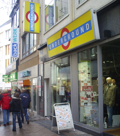 Underground Shop in Essen, Germany