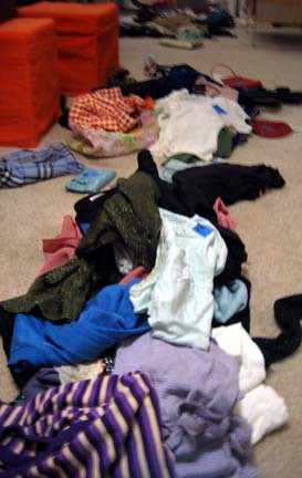 Leftover clothes from the swap