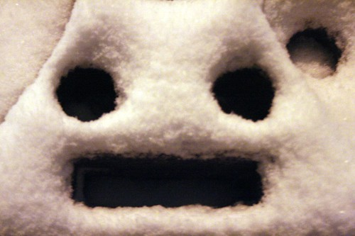 Screaming Snow Man
