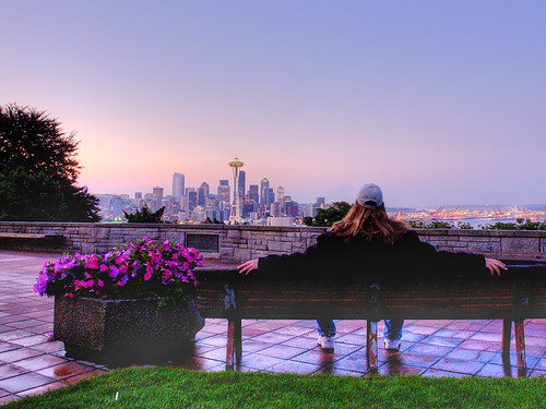 Sunrise at Kerry Park, Seattle
