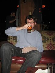Dave enjoys a pint