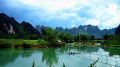 Viet nam (Lou Rouge) Tags: mountain verde green rio river landscape ilovenature asia vietnam rios caobang lourouge caobangprovince northestvietnam