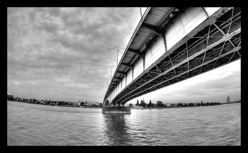 Kennedy Bridge Kennedy Bridge over the river Rhine in Bonn. September 2006.