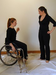 What if we... (ChatOmbre) Tags: ladies people woman girl lady studio photography idea dance women thought dancing wheelchair lisa 2006 thinking if ideas laurel whatif jobshadowing whatifwe