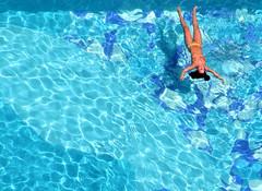 from above (Kak) Tags: blue sea brazil woman sun hot beach water pool girl brasil swimming geotagged coast seaside floating sunny bikini bahia salvador swimsuit bathingsuit swimwear baador nordeste geolat1301682 geolon38487457