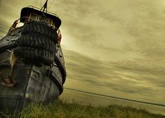 Time and tide (IrenaS) Tags: boat quebec tugboat hdr charlevoix stjosephdelarive kkfav kkblog