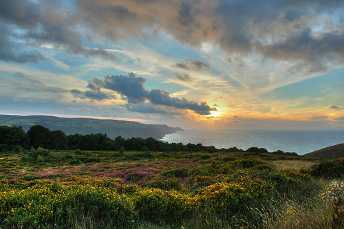 Sunset over the Moors