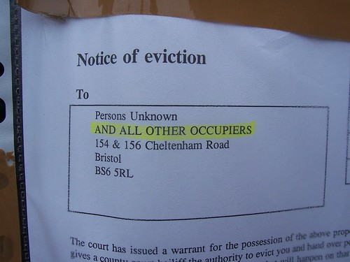 What you don't want to get? Eviction notice