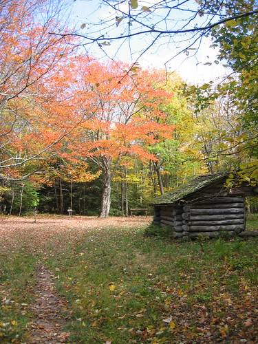 Cherry tree shelter -- appalachian trail mountains tiffers easternus virginia fall hiking appalachiantrail eastern fallcolors colors