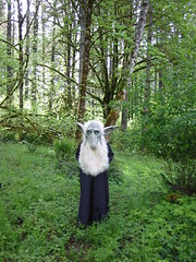 A Creature in the Woods Where Anna Leigh Lives (Pixel Packing Mama) Tags: masks pixelpackingmama dorothydelinaporter worldsfavorite reallyunlimited favoritedpixset halloweeniscoming marvinthecreatureinthewoods halloweenworldwide uploadedsecondhalfof2006set ourhalloweengrouppool oversixmillionaggregateviews over430000photostreamviews