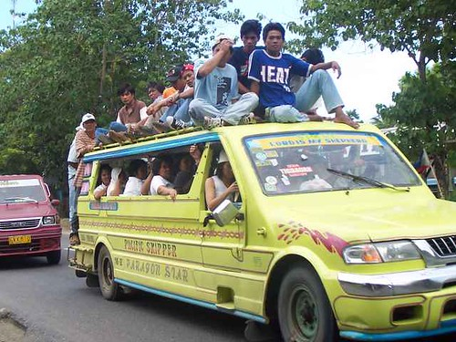 jeep front right commuting transport rural province people philippines pinoy filipino