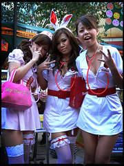 Nurses on Call : Kawasaki-Halloween 2006 (Danz in Tokyo) Tags: costumes girls people woman color cute sexy halloween beautiful beauty japan japanese tokyo costume asia makeup  nurse japanesegirls kawasaki fz30  nozoom asiangirls realpeople danz october2006 danzintokyo realtokyo kawasakihalloween2006 japanesenurse