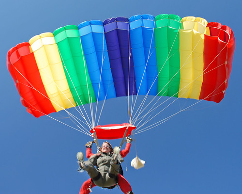 Skydiving Oct 06, rainbow tandem ride