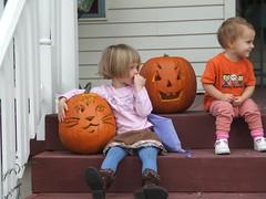 DSCF3673 (JordanaA) Tags: halloween jackolanterns