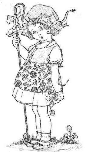 Bo Peep by 'Playingwithbrushes'.