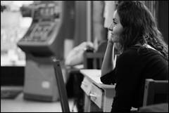 Resting waitress (MADeINITALY) Tags: madrid beautiful spain waitress cameriera