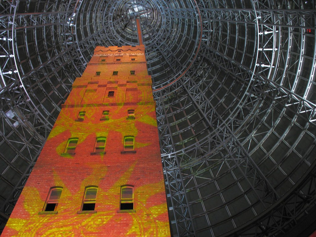 Melbourne Central tower in a cone