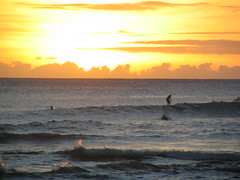 surfers at sunset off Waikiki (thomas pix) Tags: sunset hawaii waikiki