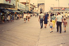 Atlantic City Boardwalk 1967 (Videoal) Tags: ocean people food beach newjersey restaurants atlanticcity boardwalk amusements strolling