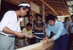 Carpentry Workshop on Awaji Island.  Photo by Ellie Van Houtte.