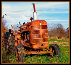 Old Tractor (BehindBlueEyes) Tags: old tractor newjersey rust farm nj machinery somersetcounty franklintownship utatafeature