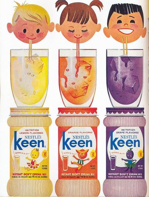 Nestle's Keen ad, 1964